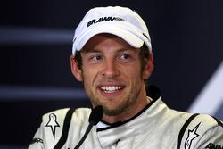 Conférence de presse d'après-course : le vainqueur Jenson Button, Brawn GP