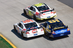 Greg Biffle, Roush Fenway Racing Ford, Bobby Labonte, Hall of Fame Racing Ford, Jamie McMurray, Roush Fenway Racing Ford