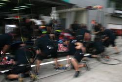 Toro Rosso practice pit stop