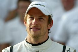 Brawn GP group picture, Jenson Button, Brawn GP