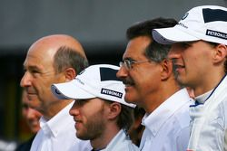 Peter Sauber, BMW Sauber F1 Team, Team Advisor, Nick Heidfeld, BMW Sauber F1 Team, Dr. Mario Theisse