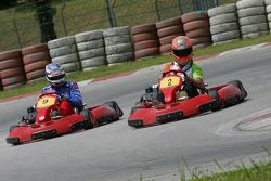 F1 Fun Kart Challenge: Vitantonio Liuzzi, Force India ve Edoardo Mortara
