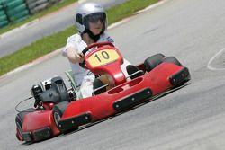F1 Fun Kart Challenge: Alexa Quintin, GP2 series Press Officer