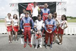 F1 Fun Kart Challenge: Vitantonio Liuzzi, Force India ve Edoardo Mortara, Podyum