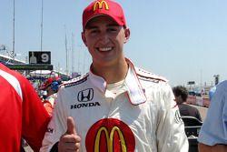 Pole winner Graham Rahal, Newman/Haas/Lanigan Racing, celebrates