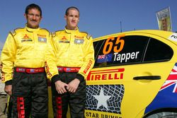 Mark Tapper et Jeff Judd (Mitsubishi Evo X)