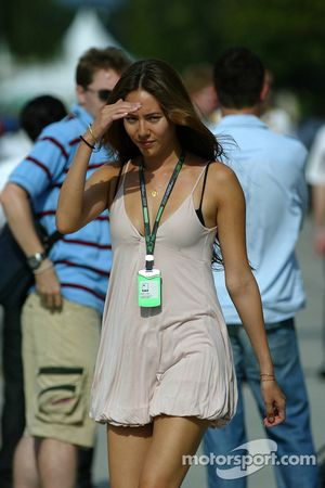 Jenson Button's girlfriend, Jessica Michibata