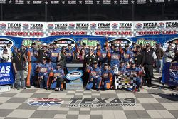 Victory lane: race winner Kyle Busch celebrates with his team