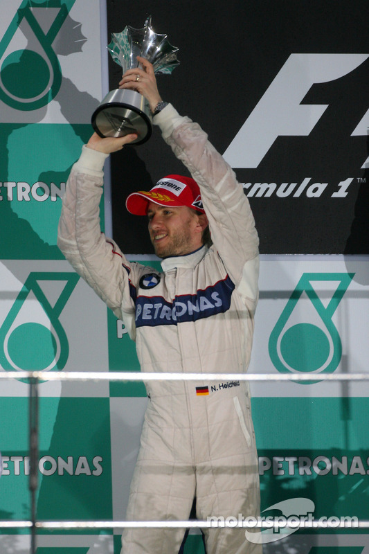 Podio: Nick Heidfeld, BMW Sauber F1 Team el segundo lugar