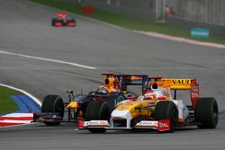 Fernando Alonso, Renault F1 Team y Mark Webber, Red Bull Racing
