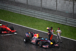 Mark Webber, Red Bull Racing, after race was red flagged due to rain