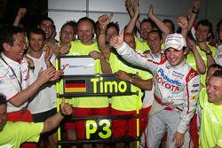 Toyota F1 celebrations: Tadashi Yamashina, Chairman and Team Principal, Jarno Trulli, Toyota Racing,