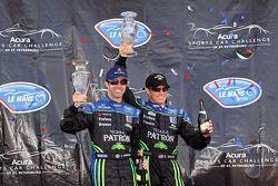 LMP1 podium: class and overall winners David Brabham and Scott Sharp