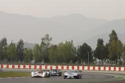 #009 Aston Martin Racing Lola Aston Martin: Harold Primat, Miguel Ramos, Darren Turner, #90 FBR Ferrari F430 GT: Pierre Ehret, Anthony Beltoise