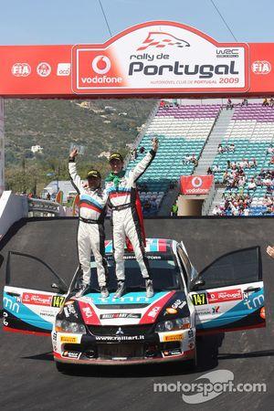 Podium : Armindo Araujo et Miguel Ramalho, Mitsubishi Lancer Evo IX, Ralliart Italy