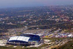 Vue globale du service et du stadium de l'Algarve