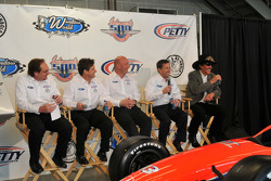 Dennis Reinbold, Robbie Buhl, Todd Whitworth, John Andretti, and Richard Petty have a laugh