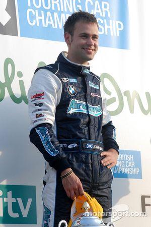 Initial race winner Jonny Adam