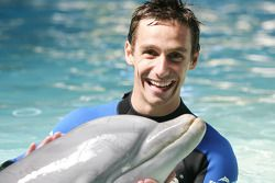 Filipe Albuquerque, driver of A1 Team Portugal swims with dolphins