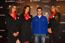 Nicolas Prost, driver of A1 Team France with girls at the ignition party