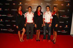 Filipe Albuquerque et Armando Parente, pilotes du Portugal en A1 GP à la fête