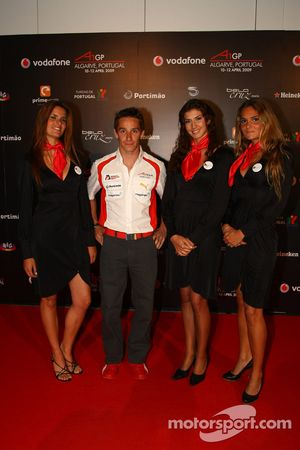 Filipe Albuquerque, driver of A1 Team Portugal at the ignition party