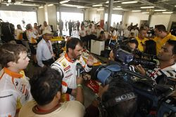 FIA's Vice-President for sport and 14-time Middle East Rally Champion Mohamed Ben Sulayem prepares