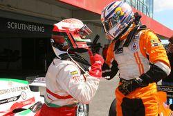 Daniel Morad, driver of A1 Team Lebanon and Robert Doornbos, driver of A1 Team Netherlands
