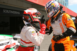 Daniel Morad, driver of A1 Team Lebanon and Robert Doornbos, driver of A1 Team Netherlands
