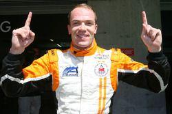 Robert Doornbos, driver of A1 Team Netherlands gets pole position