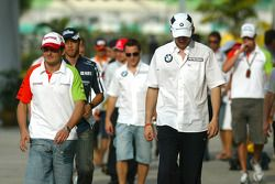 Giancarlo Fisichella, Force India and Robert Kubica, BMW Sauber