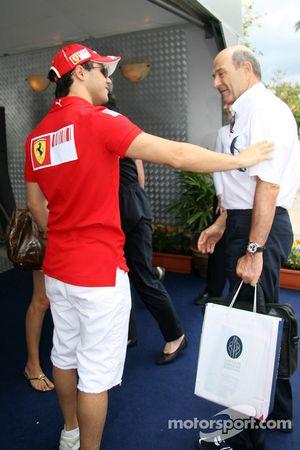 Felipe Massa with Peter Sauber
