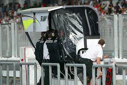 Brawn GP pitwall
