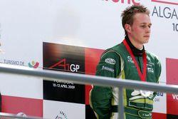 Second place Adam Carroll, driver of A1 Team Ireland