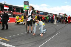 Felipe Guimaraes, driver of A1 Team Brazil didnt have a car for race 2