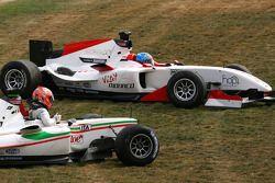 Vitantonio Liuzzi, driver of A1 Team Italy and Clivio Piccione, driver of A1 Team Monaco
