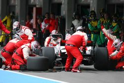 Zahir Ali, driver of A1 Team Indonesia pit stop