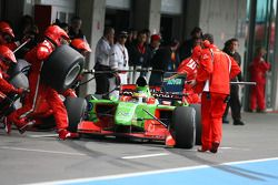 Filipe Albuquerque, driver of A1 Team Portugal pit stop