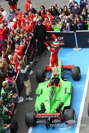Provisional third place Filipe Albuquerque, driver of A1 Team Portugal