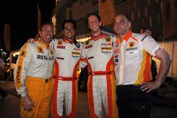 Nelson A. Piquet and Romain Grosjean