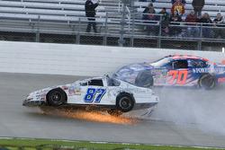 Joe Nemechek crashes