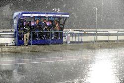 Regen auf dem Losail International Circuit