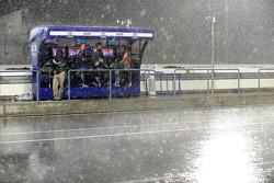 Дождь на трассе