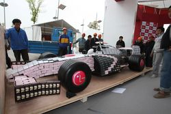 F1 car made from mobile phones