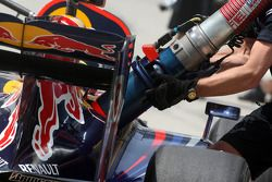 Mark Webber, Red Bull Racing, práctica de carga de combustible