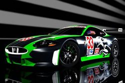 Rendering of the RSR Jaguar XKR GT2 that will race in the American Le Mans Series in LMGT2