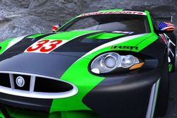 The RSR Jaguar XKR GT2 that will race in the American Le Mans Series in LMGT2