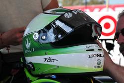 Helmet of Ernesto Viso, HVM Racing