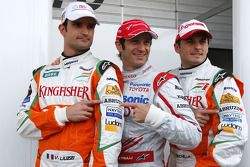 Vitantonio Liuzzi, Test Driver, Force India F1 Team, Jarno Trulli, Toyota Racing, Giancarlo Fisichel