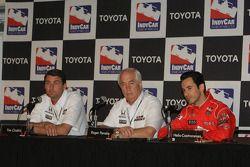 Conférence de presse : Helio Castroneves, Team Penske avec Tim Cindric et Roger Penske